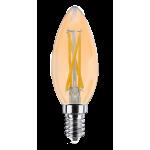 Светодиодная лампа ULTRA LED С35 F 4W E14 3000K GOLD