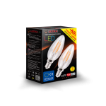 Светодиодная лампа ULTRA LED C37 F DBL 5W E14 3000K 2 шт