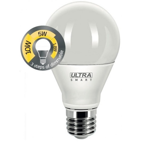 Диммируемая лампа Ultra LED A60 10W E27 3000K SMART DIM