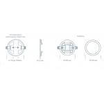 Светодиодный светильник ULTRA LED SP 18W 3000K регулируемый